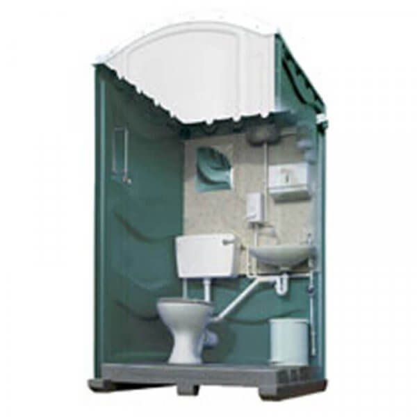 Meridian mains portable toilet blue