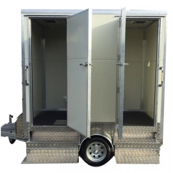 Open 2 bay portable toilt unit.